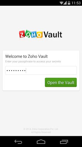 Zoho Vault - Password Manager
