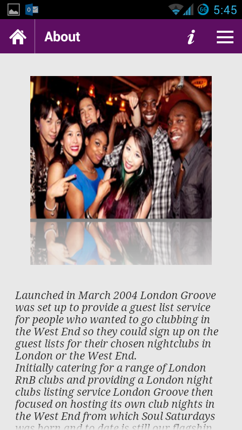 London Groove - Club Finder - screenshot
