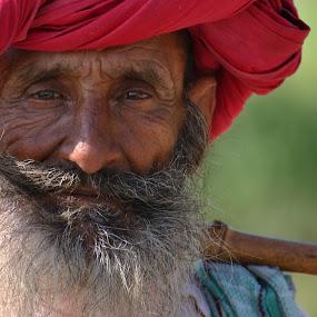 Schaefer in Rajasthan/Indien by Konstanze Singenberger - People Portraits of Men