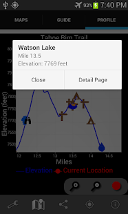 Guthook's Tahoe Rim Trail- screenshot thumbnail