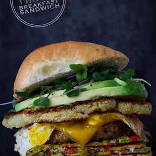 The Epic Veggie Breakfast Sandwich.