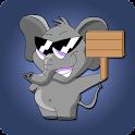 Elefante batería icon