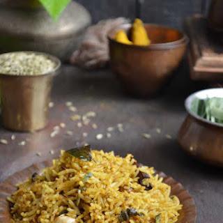 Vetrilai Poondu Saadam (Betel Leaves & Garlic Rice).