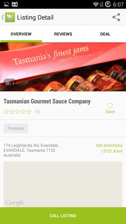 Tasmanian Food Guide - screenshot