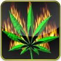 flaming marijuana leaf lwp icon