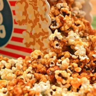 Spicy Cheese-Caramel Popcorn.