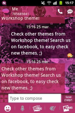 【免費個人化App】GO SMS Pink Dark Star Buy-APP點子