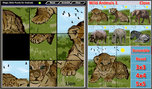 Magic Slide Puzzle W.Animals 1 Screenshot 8