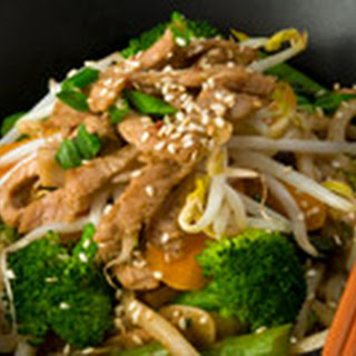 Chicken, Vegetable and Noodle Stir- Fry.