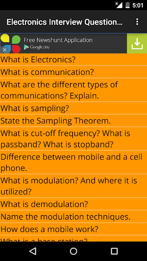 Electronics Interview Question