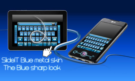SlideIT Blue Metal Skin