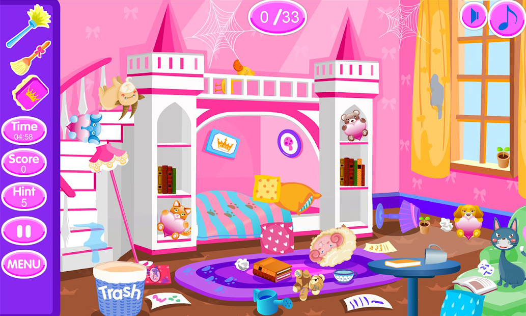 Princess room cleanup Android App Screenshot