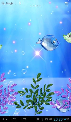 クリスタル魚の水槽