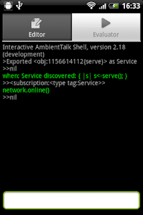 AmbientTalk Interpreter - screenshot thumbnail