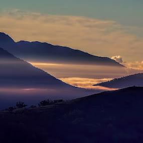 Greta Mist by Chris KIELY - Landscapes Mountains & Hills ( greta, mountain, fog, morning, mist,  )