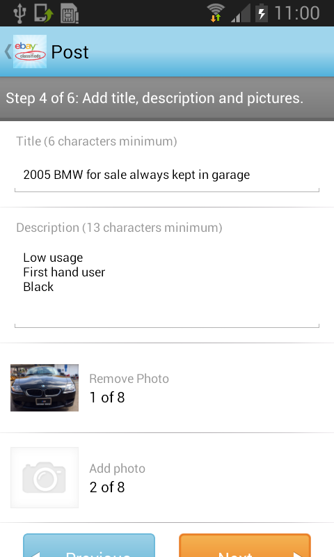 eBay Classifieds - screenshot