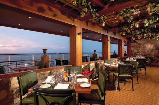Norwegian-LaCucina-Waterfront - Pull up a seat to a view of the sea at Norwegian Breakaway's La Cucina Waterfront restaurant.
