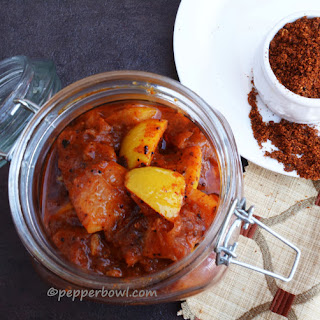 South Indian Style Lemon Pickle.