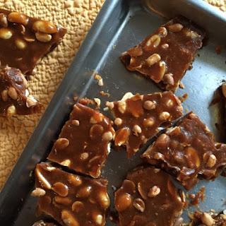Peanut and Cashew Brittle