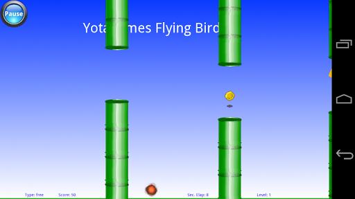 Yota flying bird