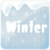 Winter go launcher ex theme