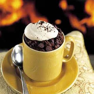 Chocolate-Espresso Lava Cakes with Espresso Whipped Cream.