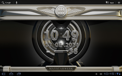 Digi Clock Widget Iron Sun APK screenshot thumbnail 7