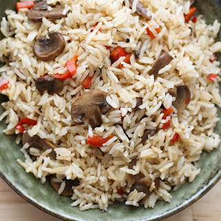 Mushroom and Pepper Rice Pilaf.