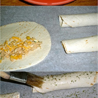 Crispy Chicken Tortilla Rollups