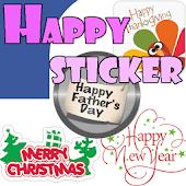 Happy Sticker-Facebook