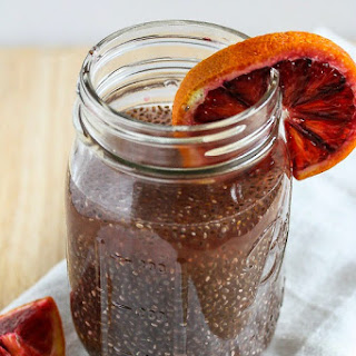 Blood Orange Green Tea Chia Energy Drink