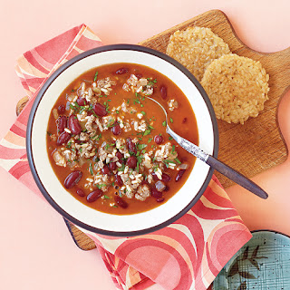 Picadillo Chowder with Rice Browns