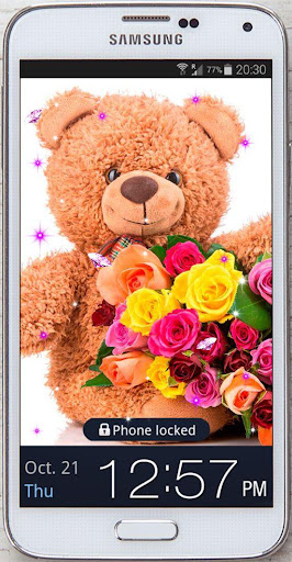 Teddy bear flowers HQ LWP