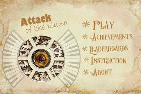 Attack of the piano- screenshot