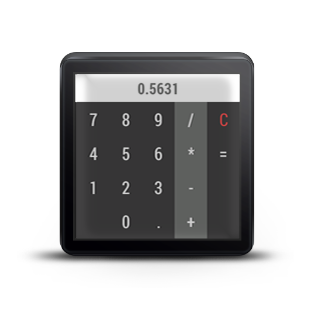 Calculator For Android Wear- screenshot
