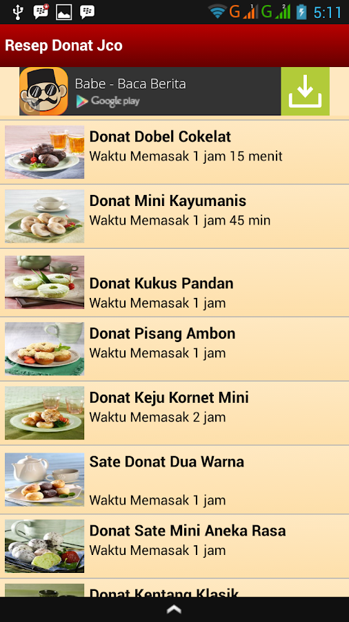 Resep Donat Jco - Android Apps on Google Play