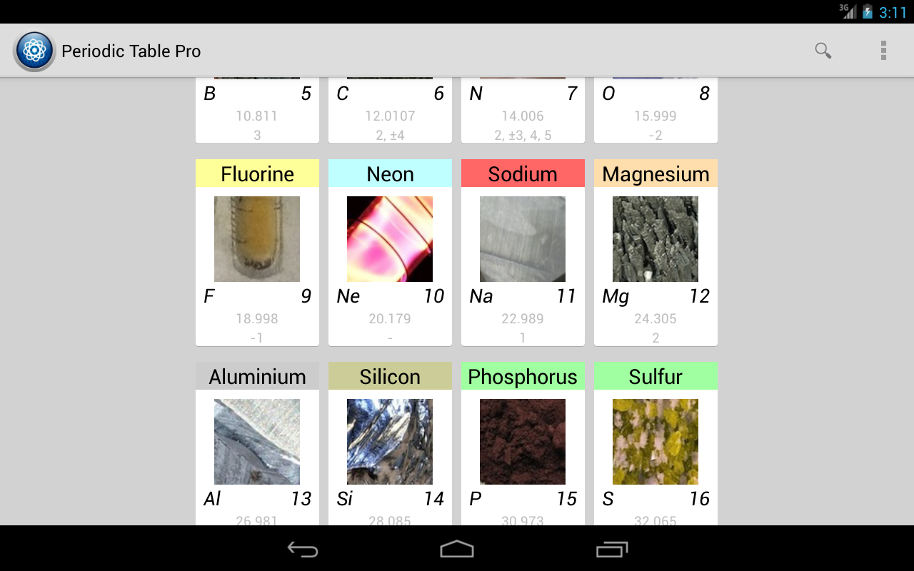 Periodic table pro android apps on google play periodic table pro screenshot urtaz Gallery