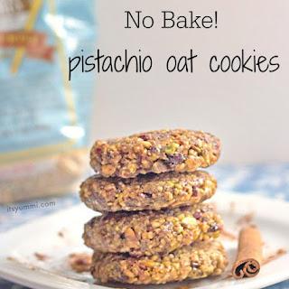No Bake Pistachio Oat Cookies