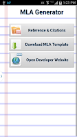 Screenshot of MLA Generator