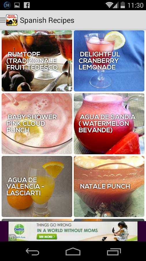 Cookbook free : Spanish Recipe - screenshot
