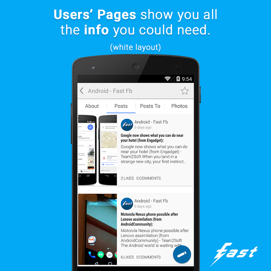 Fast Pro (Client for Facebook)- screenshot