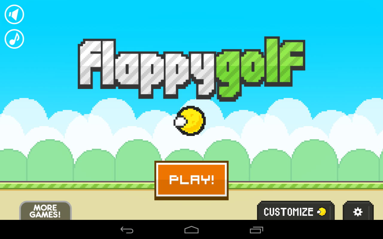 Screenshots of Flappy Golf for iPhone