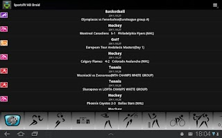 Screenshot of Sports TV HD for Tablets