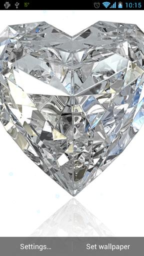 鑽石心動態壁紙