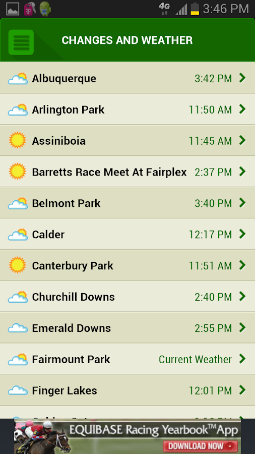 Equibase Today S Racing Android Apps On Google Play