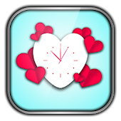 Valentine Clock Wallpaper