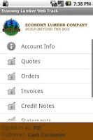 Screenshot of Economy Lumber Web Track
