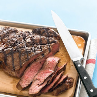 Grilled Sirloin Steak with Toppings Bar.