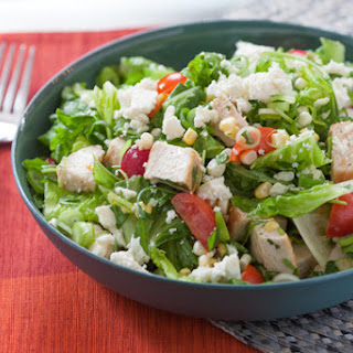 Mexican-Style Chopped Salad with Chicken & Corn.