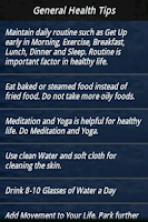 Screenshot of Health and Nutrition Guide